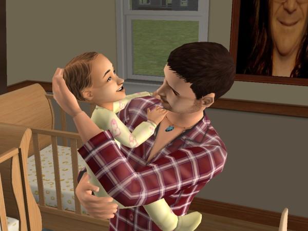 Денис и Алла, когда она была ещё рерёнком.