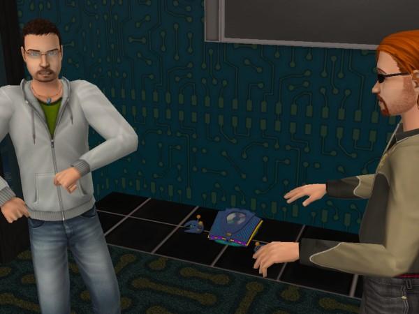 Денис и Рико поют.