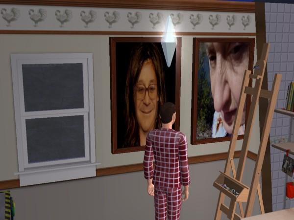 Бабушка и дедушка на картинах