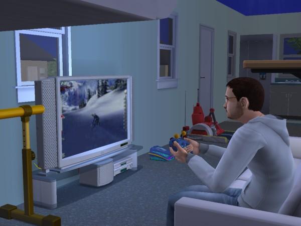 Любимое занятие Дениса - видео игры.