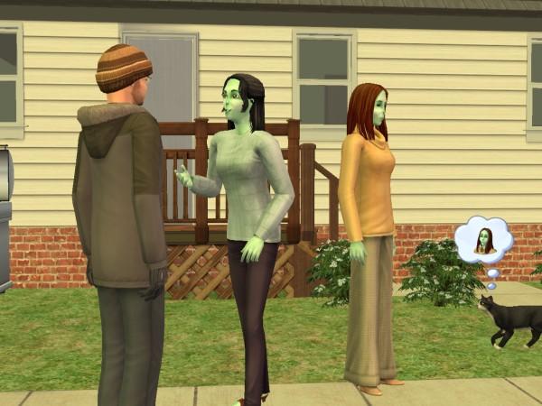 Денис и его внучки - Маша и Аня.