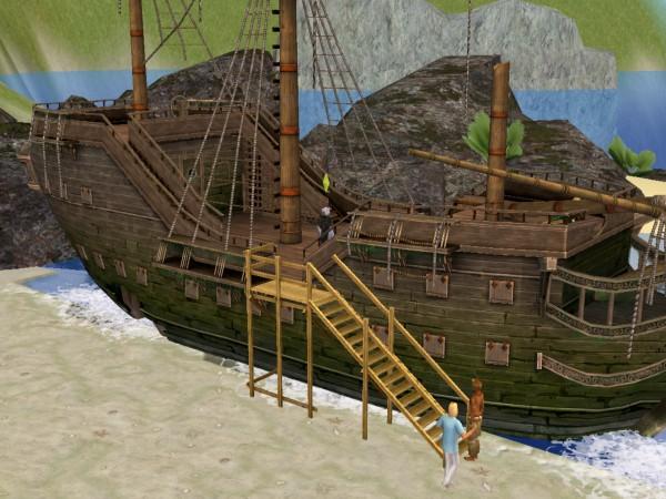Корабль поющего пирата.
