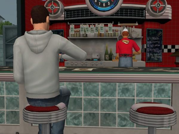 Денис в кафе.