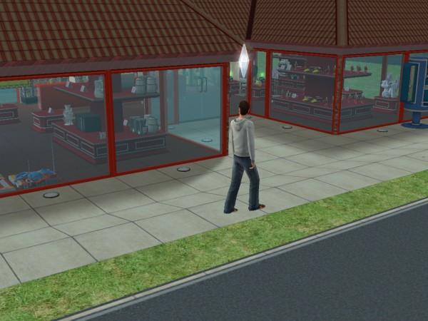 Денис идёт работать в свой магазин.