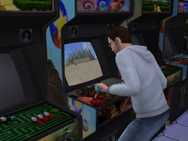 Игровые автоматы в игровом клубе.