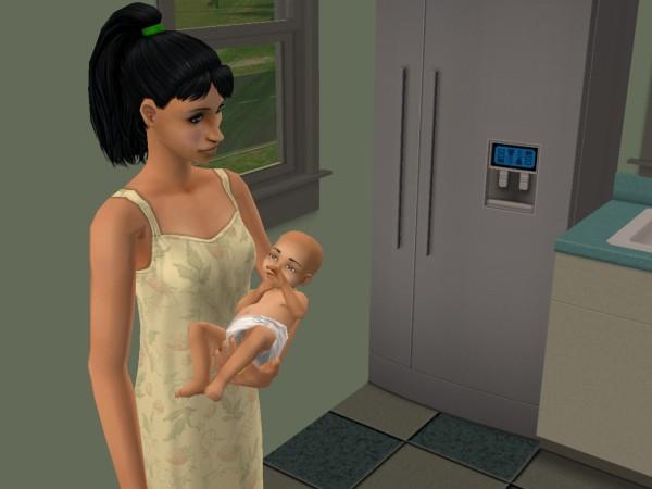 Лилия и ребёнок.