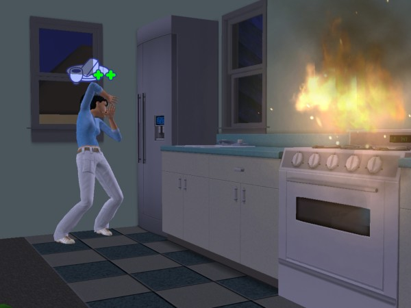 Лилия устроила пожар на кухне.