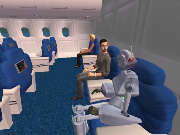 Денис и Антон в самолёте.