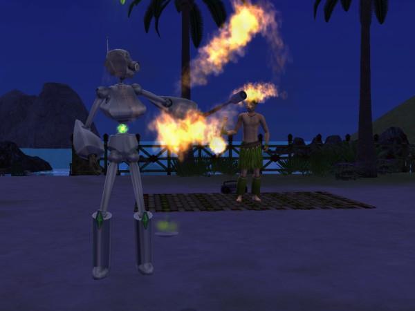 Танец с огнём.