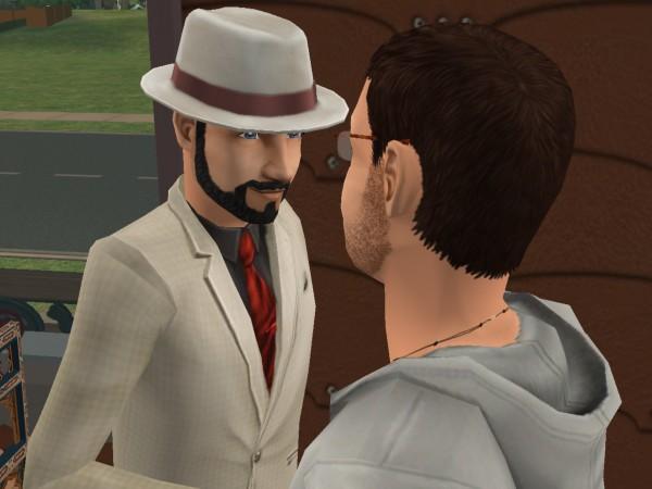Денис и владелец кафе